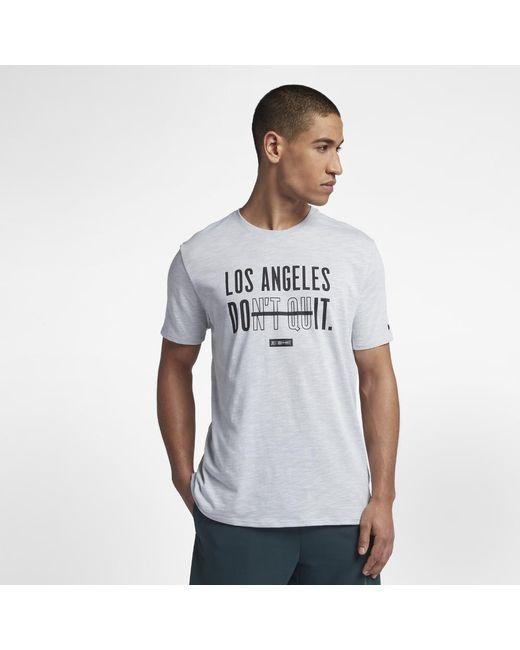 753884ac Lyst - Nike Dri-fit (berlin) Training T-shirt in White for Men