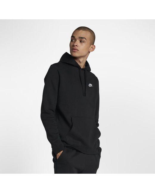 0e7ebb04111 Lyst - Nike Sportswear Club Fleece Men s Hoodie in Black for Men