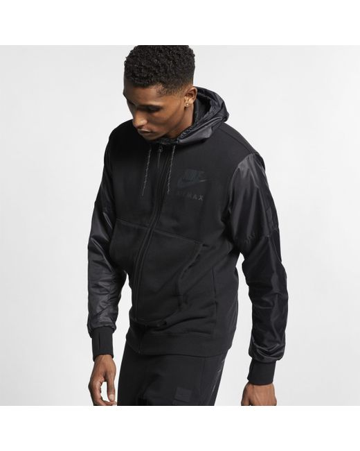 e774e2d9663402 Nike Air Max French Terry Hoodie in Black for Men - Lyst