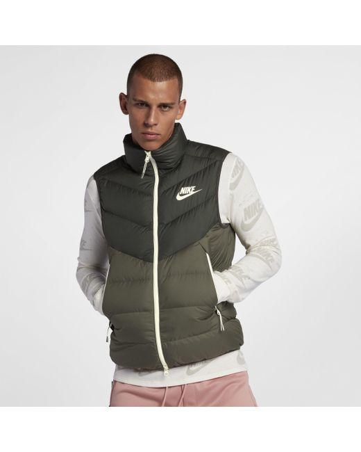 9d27d8eeac Nike Sportswear Windrunner Down Fill Gilet in Green for Men - Save ...