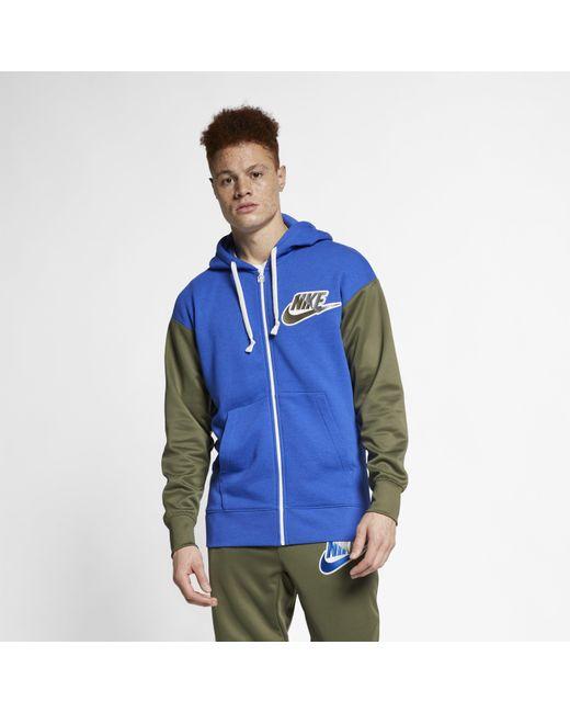6c9ff593f303 Nike - Blue Sportswear Full-zip Hoodie for Men - Lyst ...