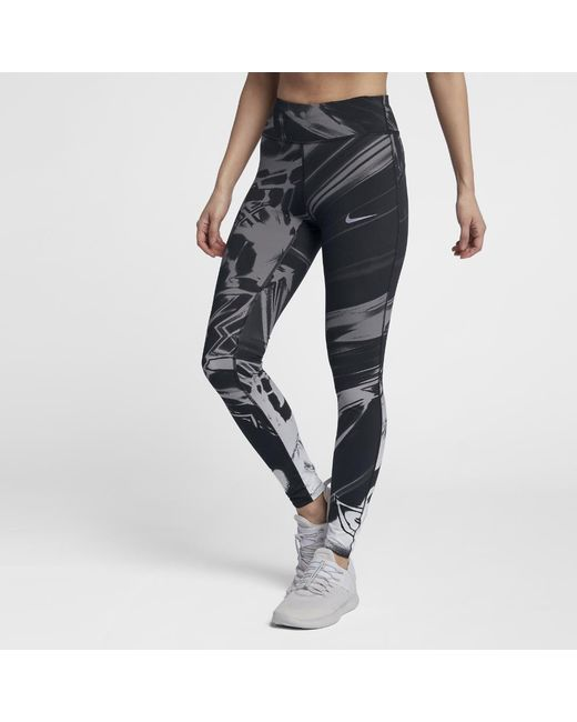 Lyst - Nike Epic Lux Women s Printed Running Tights in Black 6956151ad