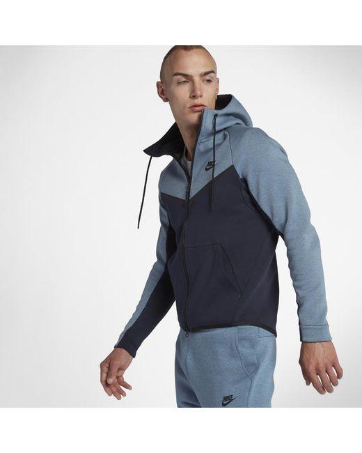 927f5a565e43 Nike - Blue Sportswear Tech Fleece Windrunner Men s Full-zip Hoodie for Men  - Lyst