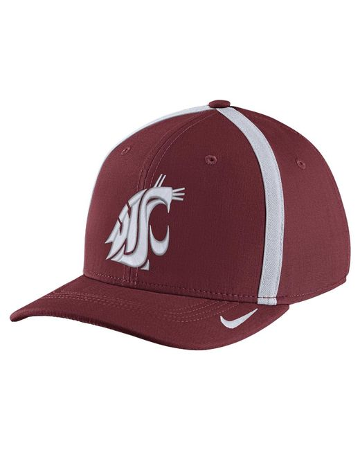 Nike - Red College Aerobill Swoosh Flex (washington State) Fitted Hat for Men - Lyst