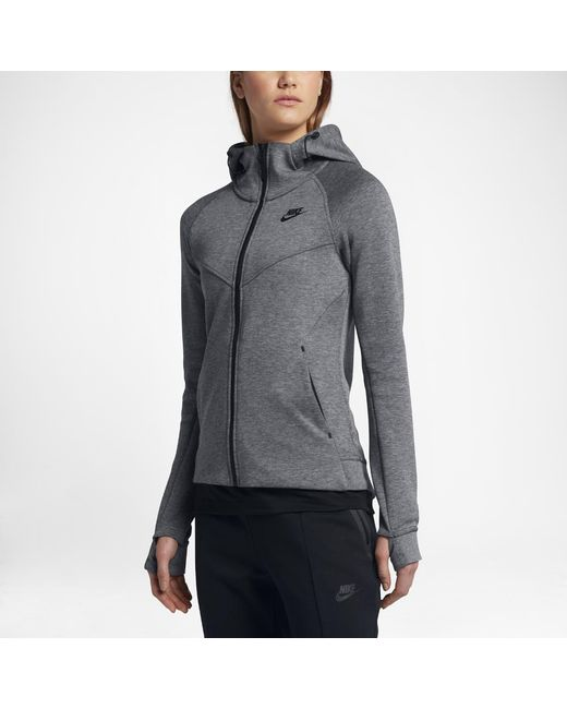 Lyst - Nike Sportswear Tech Fleece Women s Full-zip Hoodie in Black d06159bebe