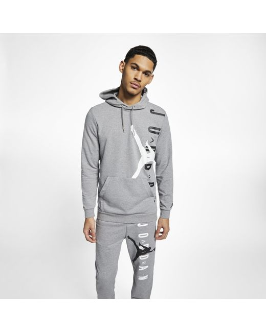 6fc90ba7156985 Nike - Gray Jordan Jumpman Air Lightweight Fleece Sweatshirt for Men - Lyst  ...