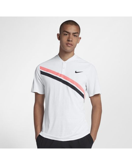 Nike - White Court Zonal Cooling Rf Advantage Men s Tennis Polo Shirt for  Men - Lyst edb9f1dfb144