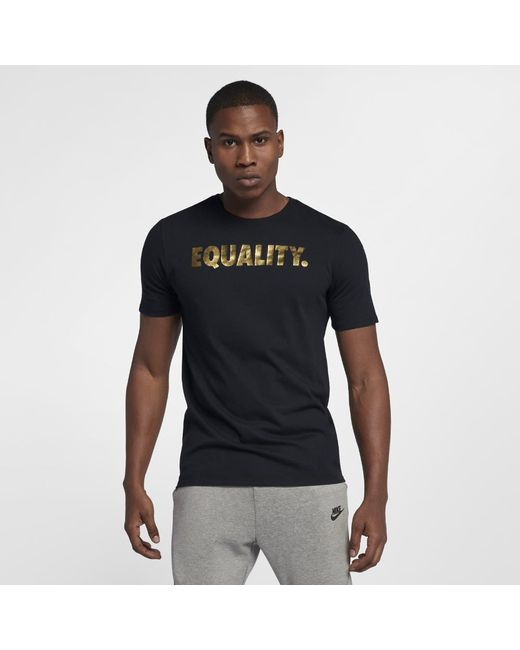 358ce86c6895 Lyst - Nike Equality Men s Basketball T-shirt in Black for Men