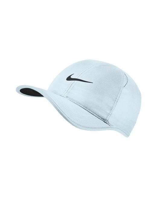 Lyst - Nike Court Featherlight Adjustable Tennis Hat (blue) in Blue ... 6087b32b483