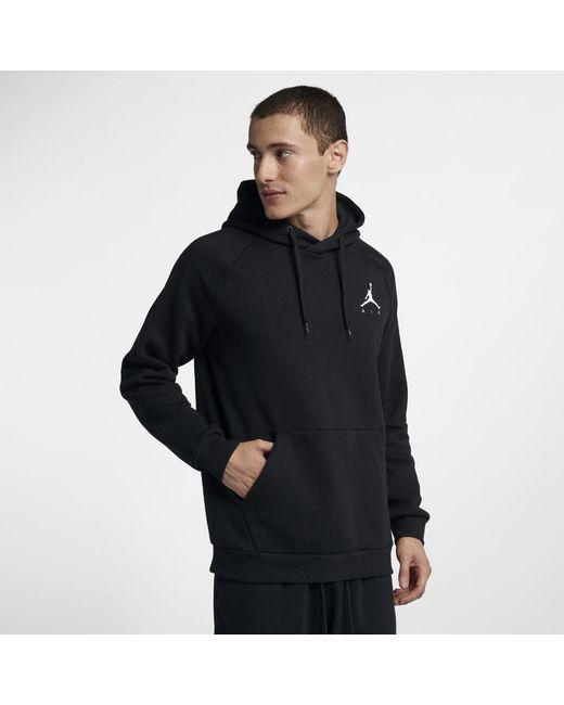 5bd28859893156 Nike - Black Jumpman Air Men s Fleece Pullover Hoodie