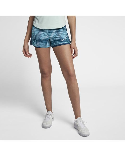 1e96e13c936a Lyst - Nike Court Flex Pure Women s Tennis Shorts in Blue