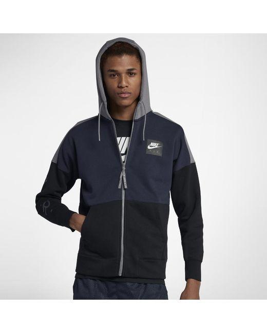 Fleece Black For Nike In Lyst Air Hoodie Men Men's KTlu1J35Fc