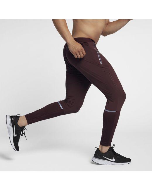 ac5e1863631ae ... Nike - Black Swift Running Trousers for Men - Lyst ...