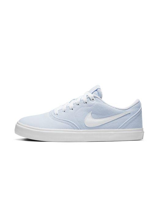 Nike - Blue Sb Check Solarsoft Canvas Skateboarding Shoe - Lyst