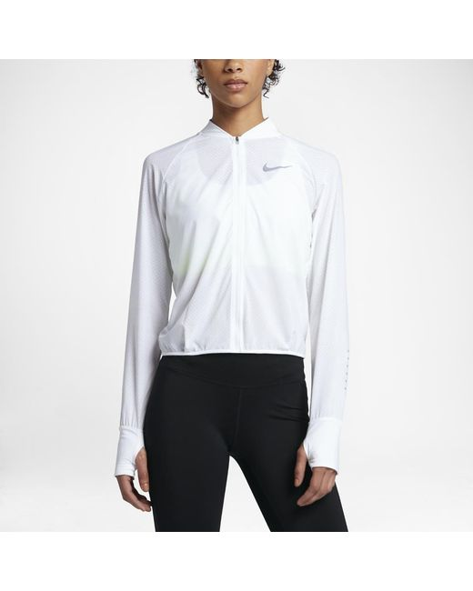 Nike - White Women's Running Jacket - Lyst