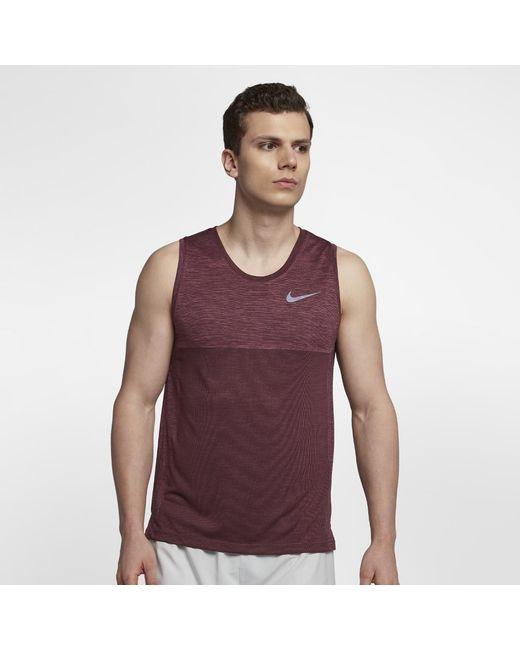e9bba88cbaa537 Lyst - Nike Dri-fit Medalist Men s Running Tank in Purple for Men
