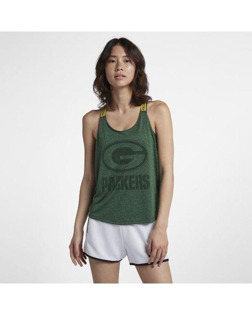 Lyst - Nike Dri-fit Elastika (nfl Packers) Women s Tank in Green c3db03e07