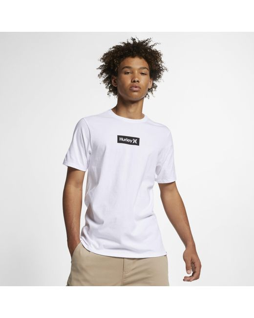 35d36f7a Nike Hurley Premium One And Only Small Box T-shirt in White for Men ...