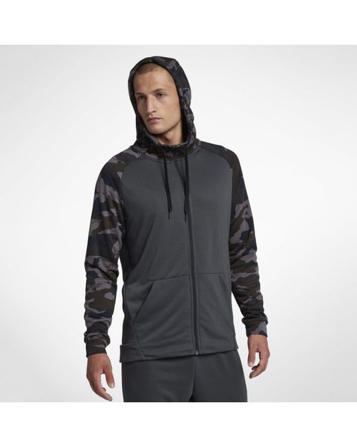 52b8926111433a Nike Dri-fit Full-zip Training Hoodie in Black for Men - Lyst