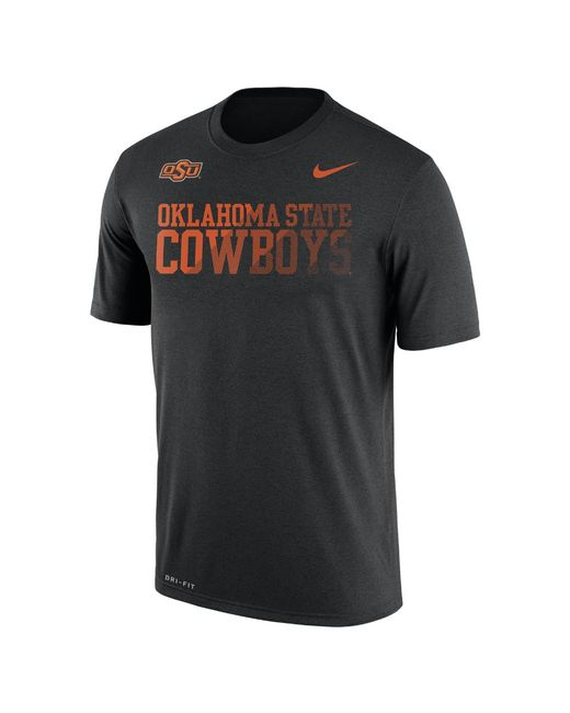 Nike | Black Dry College Legend Sideline (oklahoma State) Men's T-shirt for Men | Lyst