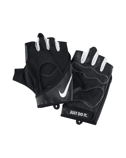 Nike - Black Perforated Wrap Women's Training Gloves - Lyst
