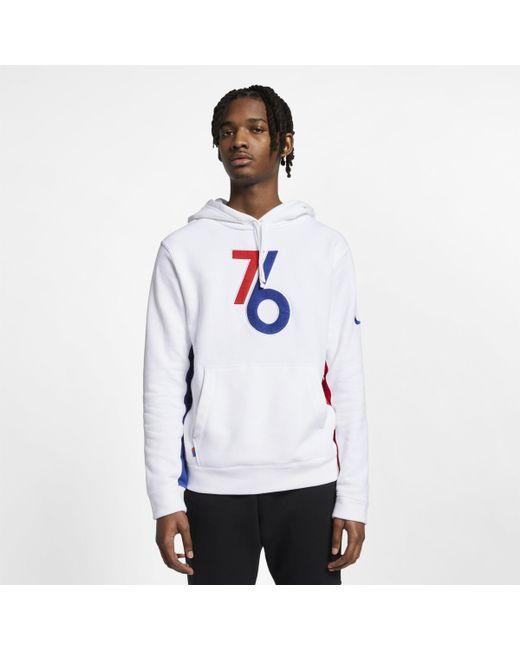 c8cd6e37 Nike Philadelphia 76ers Nba Hoodie in White for Men - Lyst