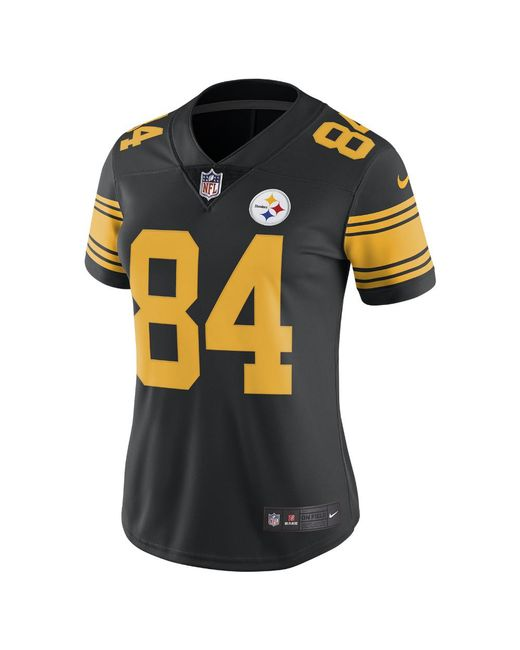 Nike - Black Nfl Pittsburgh Steelers Color Rush Limited (antonio Brown) Women s  Football Jersey 8c8a1f522
