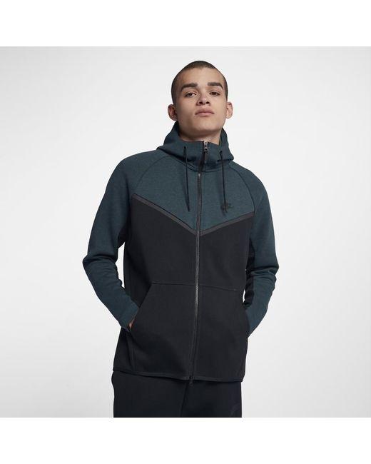 1888d052e6 Nike - Black Sportswear Tech Fleece Windrunner Men s Full-zip Hoodie for Men  - Lyst