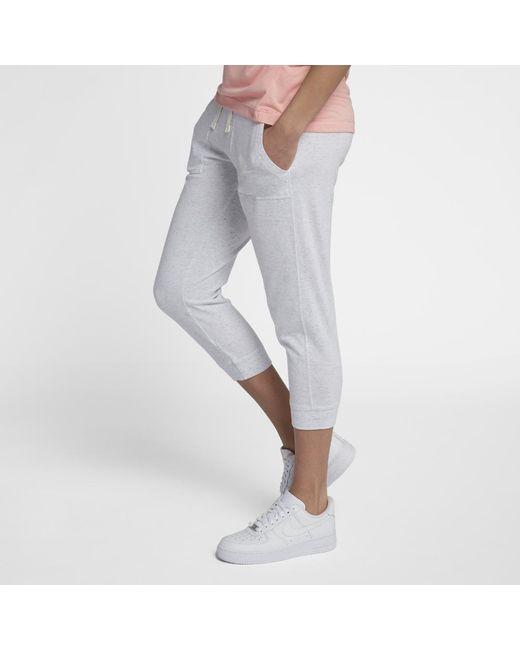 Nike - Gray Sportswear Gym Vintage Women's Capri Pants - Lyst