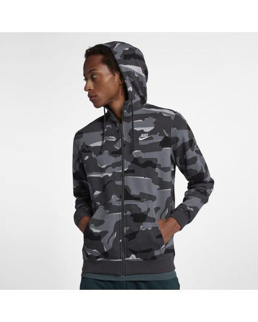 22710d00 Nike Sportswear Club Full-zip Hoodie in Gray for Men - Lyst
