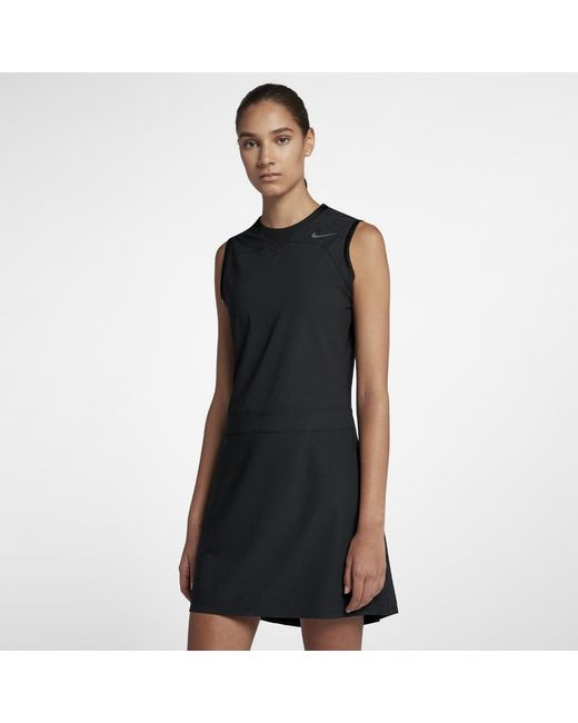 4b6152022962e6 Lyst - Nike Flex Women s Sleeveless Golf Dress in Black