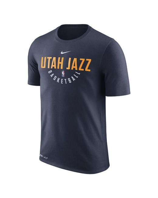 3be8d6f04 Lyst - Nike Utah Jazz Dry Men s Nba T-shirt in Blue for Men