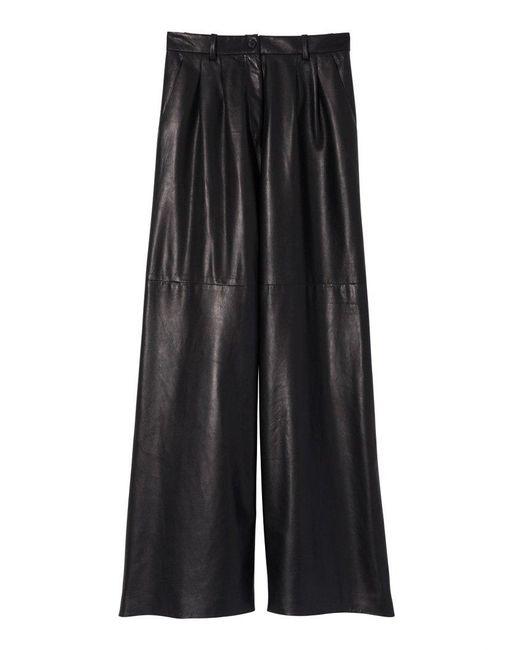 Nili Lotan Black Nico Leather Pant