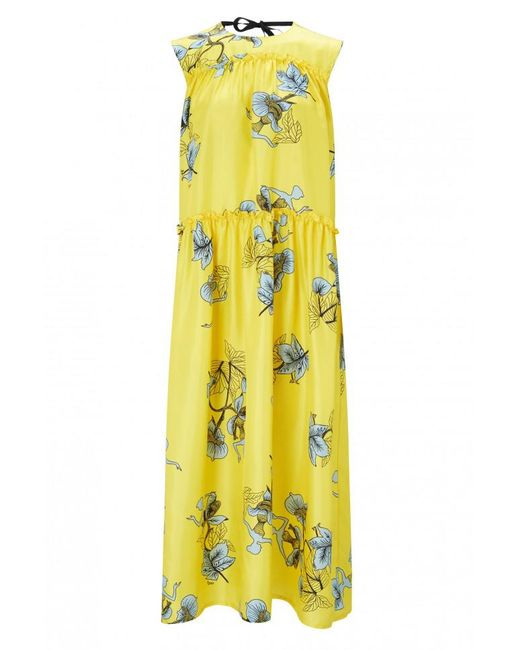 Vivetta - Yellow Cale Printed Dress - Lyst