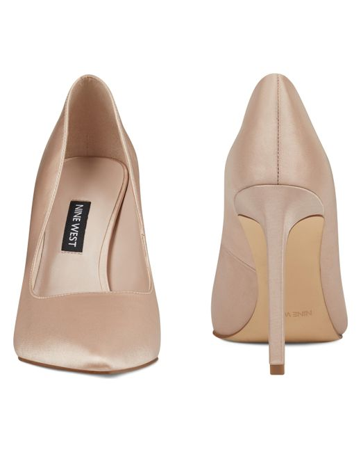 1640dbbac1 Nine West Tatiana Pointy Toe Pumps in Natural - Save 41% - Lyst