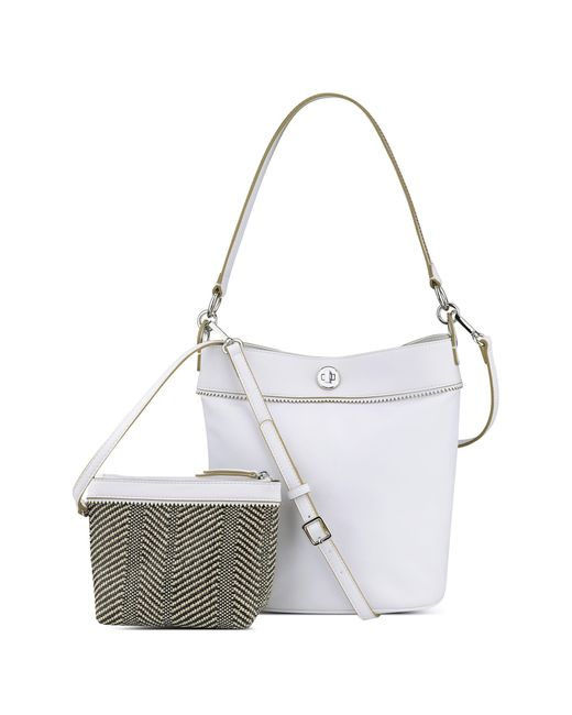 Nine West | White Belynda Bucket Bag | Lyst