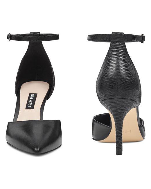 182f5d6092c ... Nine West - Black Marisa Ankle Strap Pumps - Lyst ...