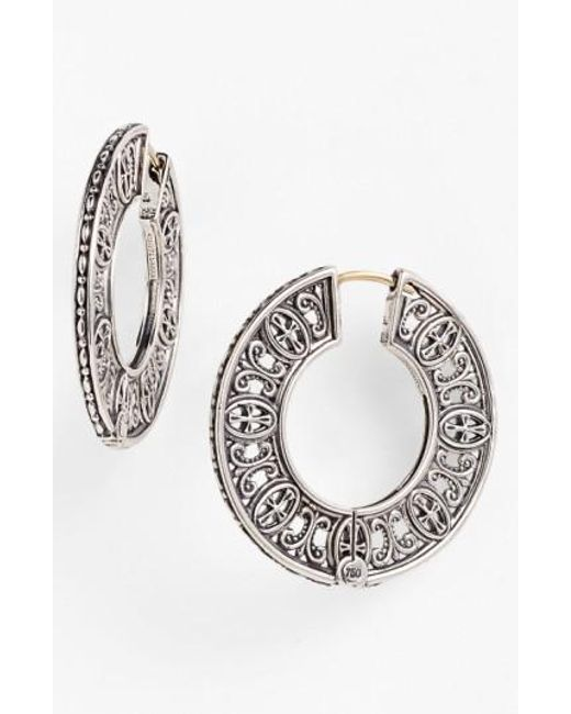 Konstantino | Metallic 'classics' Hoop Earrings | Lyst
