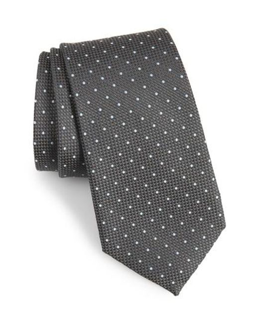 Calibrate - Multicolor Bre Dot Cotton & Silk Tie for Men - Lyst
