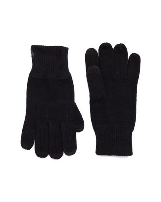 Polo Ralph Lauren | Black Knit Tech Gloves for Men | Lyst