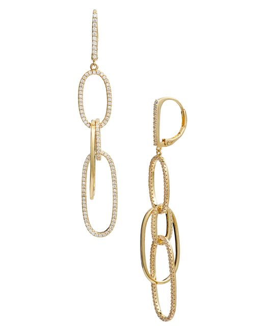 Nordstrom - Metallic Pave Intertwined Ovals Drop Earrings - Lyst