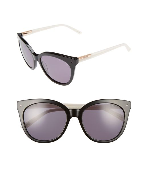 Ted Baker - Brown 56mm Cat Eye Sunglasses - - Lyst