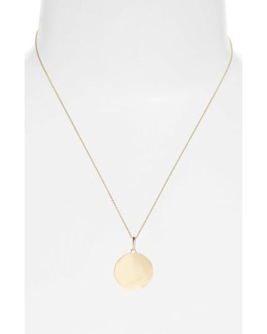 Bony Levy - Metallic Concave Large Pendant Necklace (nordstrom Exclusive) - Lyst