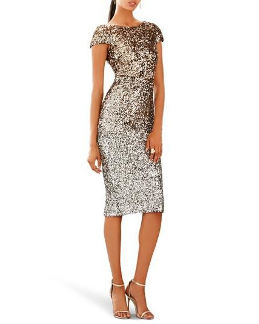 Dress the Population | Metallic Marcella Ombre Sequin Body-con Dress | Lyst