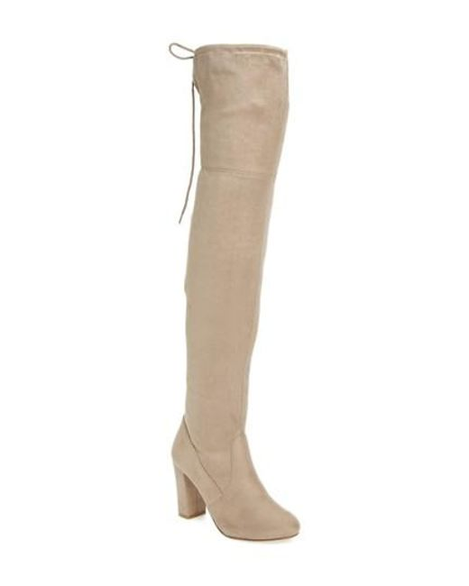 Chinese Laundry | Natural Brinna Over The Knee Boot | Lyst