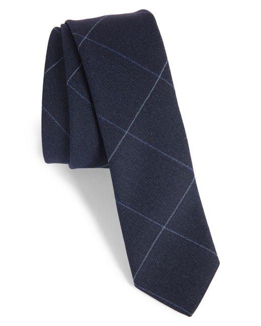 Eleventy - Blue Tattersall Wool Skinny Tie for Men - Lyst
