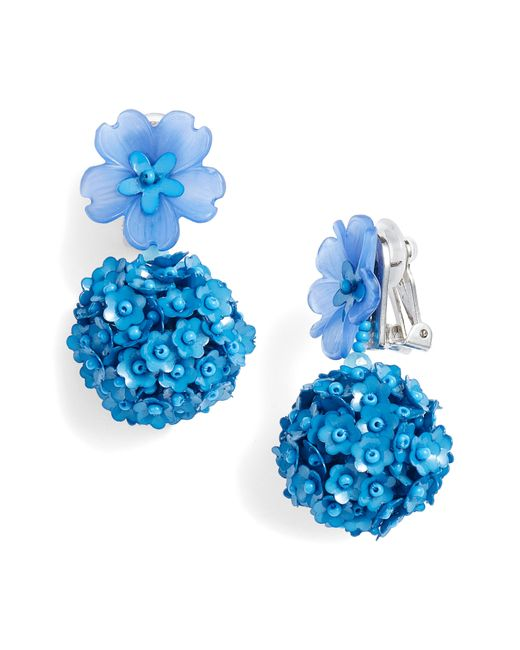 Sachin & Babi - Blue Noir Fleur Drop Earrings - Lyst