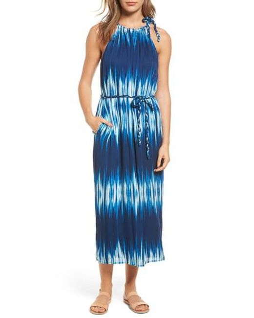 Tommy Bahama | Blue Petra Tie Neck Maxi Dress | Lyst