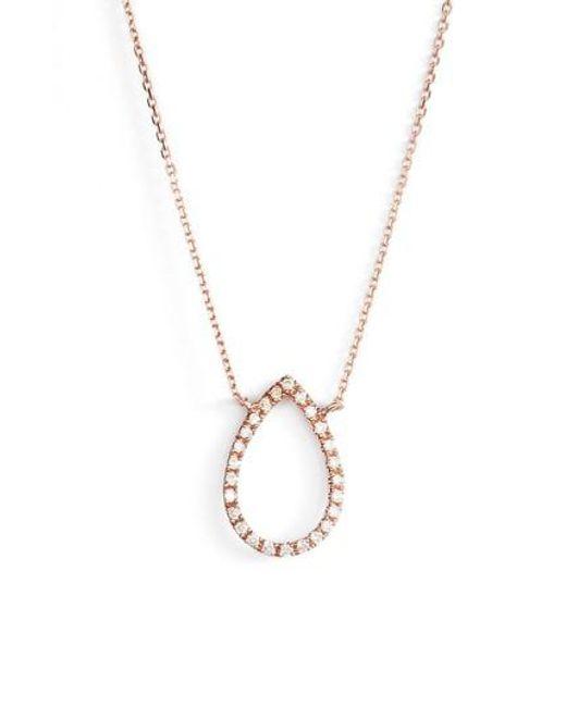 Dana Rebecca | Metallic Marquise Diamond Pendant Necklace | Lyst