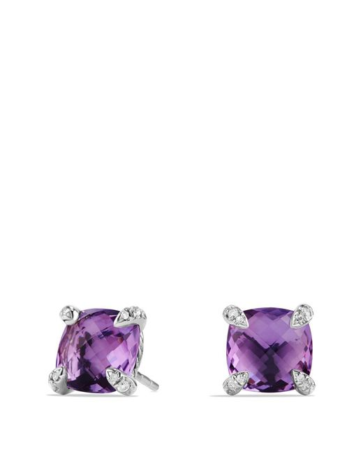 David Yurman - Purple Châtelaine Earrings With Amethyst And Diamonds - Lyst